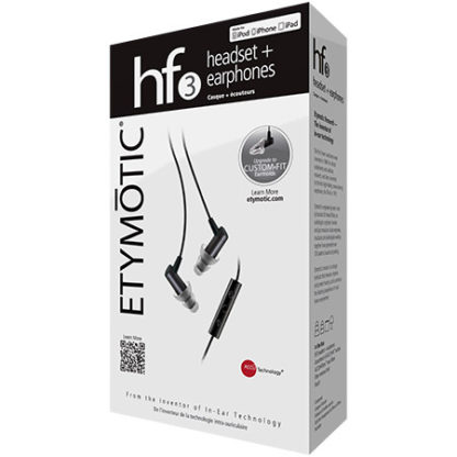 HF3 Headset and Earphones by Etymotic Research