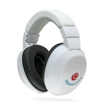 White Hearmuffs - Hearing protection for kids and toddlers